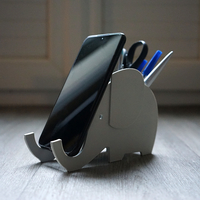 Small Various - Elephant Smartphone Holder and Pencil Jar 3D Printing 276978