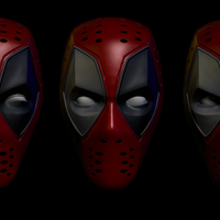 Small Deadpool  Mask (cosplay) 3D Printing 277064