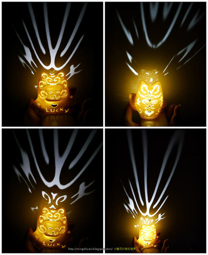 Lucky Cat Lamps carved 3D Print 27708