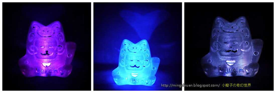 Lucky Cat Lamps carved 3D Print 27711