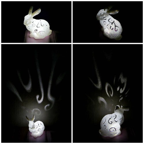 Bunny Lamps carved 3D Print 27720