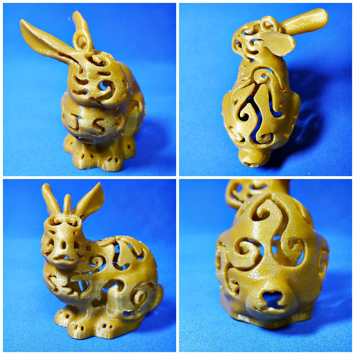 Bunny Lamps carved 3D Print 27722