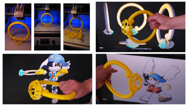 Medium Cosplay-Klonoa ring 3D Printing 27730