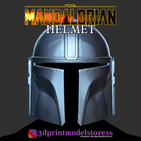 Small The Mandalorian Helmet - Star Wars 2020 Printing Model 3D Printing 277405