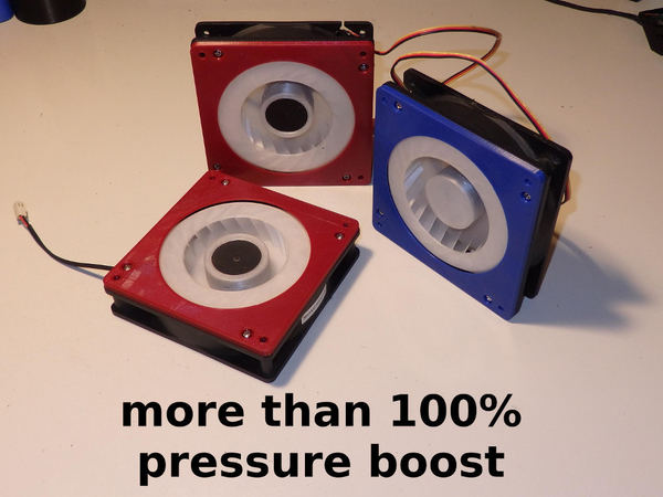 Medium High Pressure PC fan Kit - more than 100% boost 3D Printing 277471