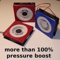 Small High Pressure PC fan Kit - more than 100% boost 3D Printing 277471