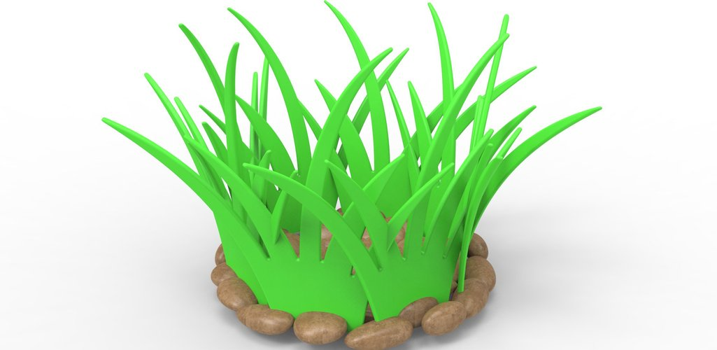 grass basket for fruits and vegetables 3D Print 27761
