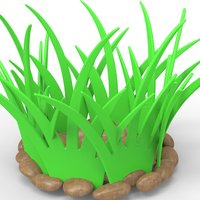 Small grass basket for fruits and vegetables 3D Printing 27761