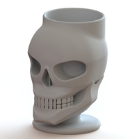 Small skull pen holder  3D Printing 27777