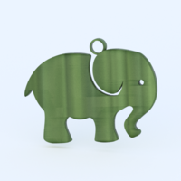 Small Elephant earring 3D Printing 277838