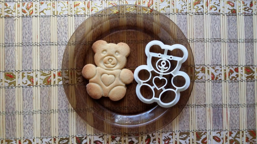 Teddy Bear Cookie Cutter 3D Print 27790