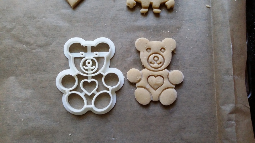 Teddy Bear Cookie Cutter 3D Print 27791