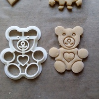 Small Teddy Bear Cookie Cutter 3D Printing 27791
