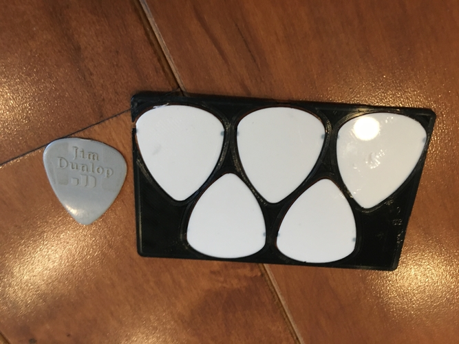 Guitar Picks in Your Wallet 3D Print 277915
