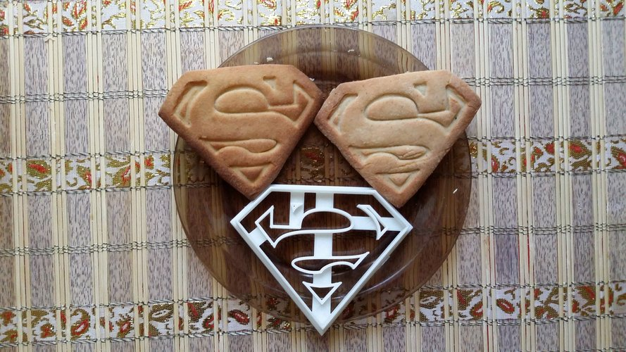 Superman Cookie Cutter 3D Print 27792