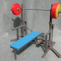 Small Weight Lift Bench 3D Printing 27795