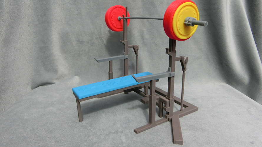 3d Printed Weight Lift Bench By Trhuster Pinshape