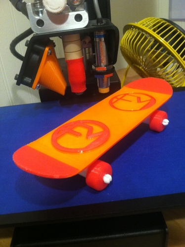 Face Monster Mini Skateboard 3D Print 27805