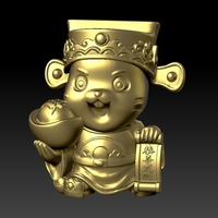 Small Money Rat Chinese New Year-attracting wealth 3D Printing 278133