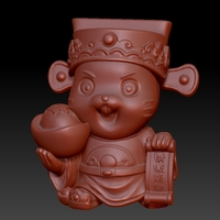 Small Money Rat Chinese New Year-Plenty of money influx 3D Printing 278135