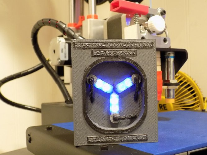 Flux Capacitor with Flashing Lights 3D Print 27821