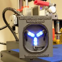 Small Flux Capacitor with Flashing Lights 3D Printing 27821