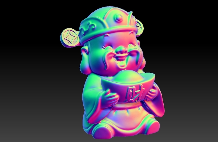 Happy Chinese New Year god of wealth congratulations fortune 3D Print 278228