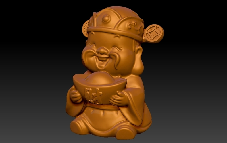 Happy Chinese New Year god of wealth congratulations fortune 3D Print 278229