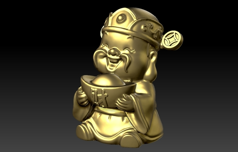 Happy Chinese New Year god of wealth congratulations fortune 3D Print 278230