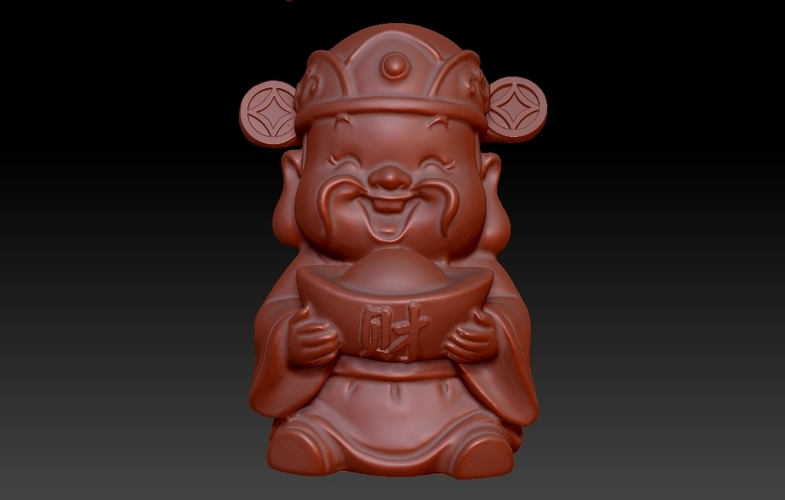 Happy Chinese New Year god of wealth congratulations fortune 3D Print 278232