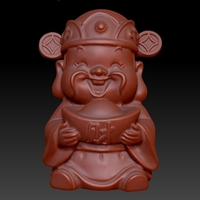 Small Happy Chinese New Year god of wealth congratulations fortune 3D Printing 278232