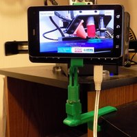 Small Adjustable Clamp for Phone as Wifi Cam 3D Printing 27828