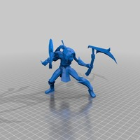 Small Akali–the Fist of Shadow 3D Printing 27853