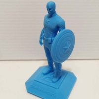 Small Captain America (printer friendly) 3D Printing 278555