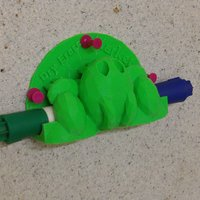 Small Trex Low Poly Dry Erase Marker Holder 3D Printing 27887