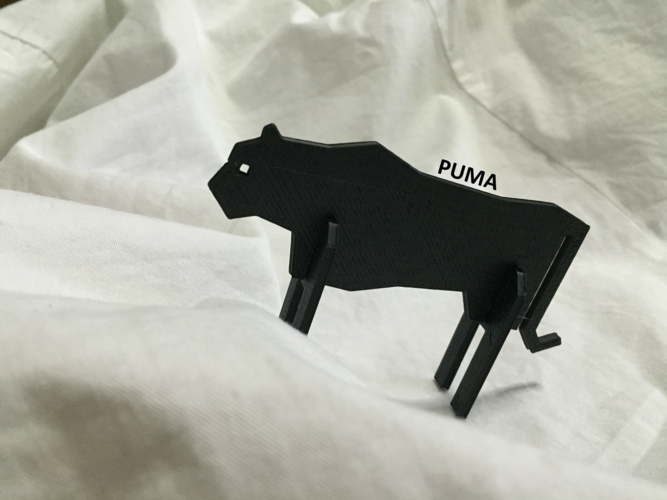 Simple Animals 11 - The Black 3D Print 27945