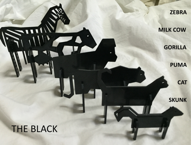 Simple Animals 11 - The Black 3D Print 27953