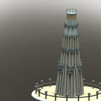"Small QUTUB MINAR "" THE TALLEST INDIVIDUAL TOWER IN WORLD "" 3D Printing 27956"