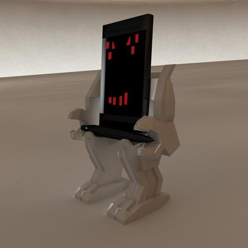 3D Printed Mech Phone & Pen Holder by zbrushingmx   Pinshape