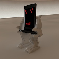 Small Mech Phone & Pen Holder 3D Printing 27970