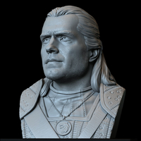 Small Geralt of Rivia (Henry Cavill) from The Witcher 3D Printing 279741