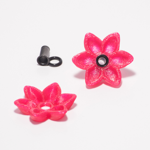 Alisa's Flower Charms For 4g Single Flare Metal Plugs  3D Print 27981
