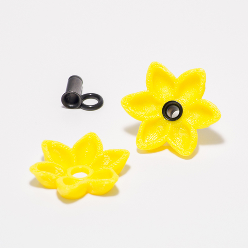 Alisa's Flower Charms For 4g Single Flare Metal Plugs  3D Print 27982