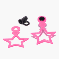 Small  Jem Inspired Star Charms For 4g Single Flare Metal Plugs 3D Printing 27994