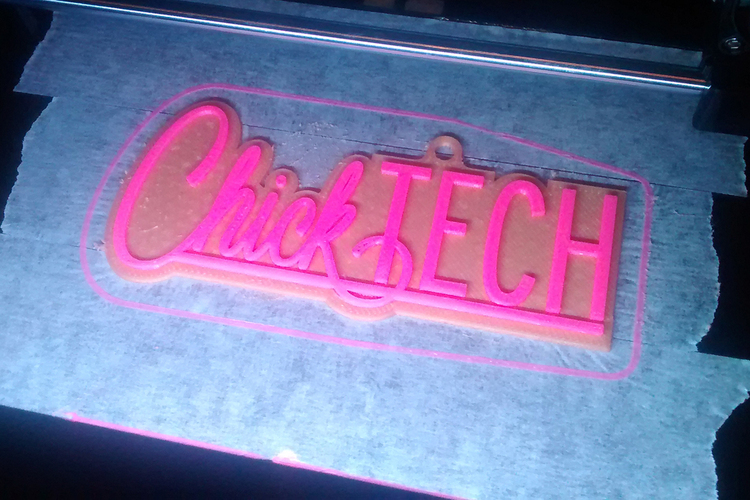 ChickTECH Charm in 2 Color Dual Extrusion 3D Print 28000