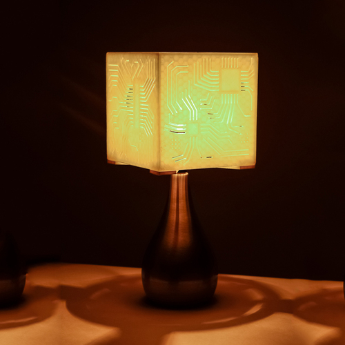 """Power My Circuit"" Lamp Shade By Mazuir Ross (Assembly Required) 3D Print 28011"