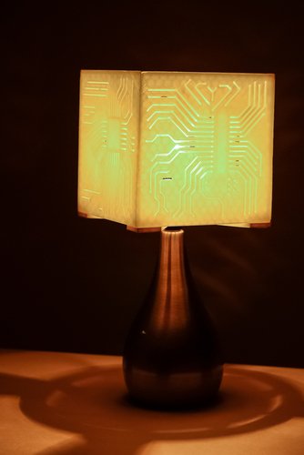 """Power My Circuit"" Lamp Shade By Mazuir Ross (Assembly Required) 3D Print 28012"
