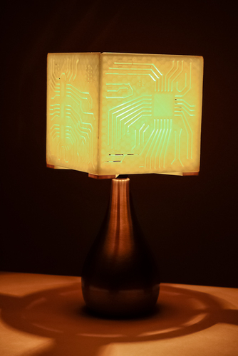 """Power My Circuit"" Lamp Shade By Mazuir Ross (Assembly Required) 3D Print 28013"