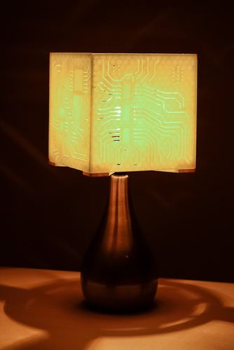 """Power My Circuit"" Lamp Shade By Mazuir Ross (Assembly Required) 3D Print 28015"