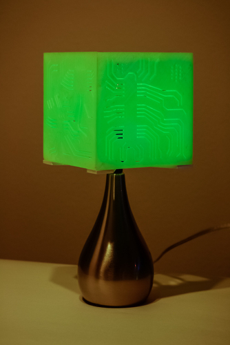 """Power My Circuit"" Lamp Shade By Mazuir Ross (Assembly Required) 3D Print 28016"